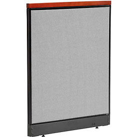 "277549PGY Deluxe Office Partition Panel with Pass Thru Cable, 36-1/4""W x 47-1/2""H, Gray"