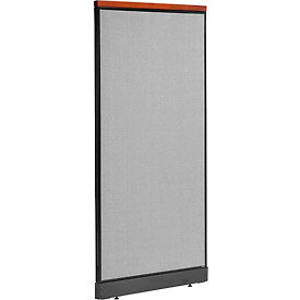 "277551PGY Deluxe Office Partition Panel with Pass Thru Cable, 36-1/4""W x 77-1/2""H, Gray"