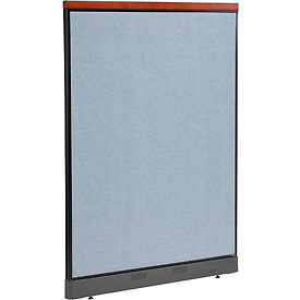"277556NBL Deluxe Non-Electric Office Partition Panel with Raceway, 48-1/4""W x 65-1/2""H, Blue"