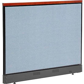 "277603RBL Deluxe Office Partition Panel with Raceway, 60-1/4""W x 47-1/2""H, Blue"