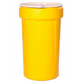 1655 Eagle 55 Gal. Yellow Plastic Open-Head Tapered Lab Pack Drum 1655 - Plastic Lever Lock