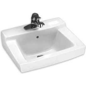 "0321026.020 American Standard Declyn 0321026.020 Wall Hung Square Lavatory Sink W/4"" Centers"