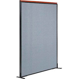"694846FBL Deluxe Freestanding Office Partition Panel, 48-1/4""W x 73-1/2""H, Blue"