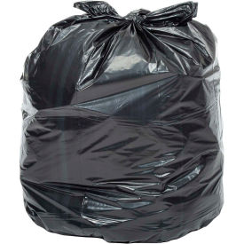 RM4641 Global Industrial; Heavy Duty Black Trash Bags - 40 to 45 Gal, 1.0 Mil, 100 Bags/Case