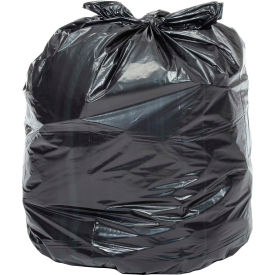 RTP385814 Global Industrial; Extra Heavy Duty Black Trash Bags - 55 to 60 Gal, 1.4 Mil, 100 Bags/Case