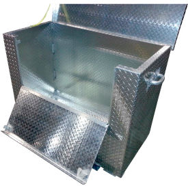"Aluminum Treadplate Tool Box APTS-2436-F-FD - w/Drop Gate & Fork Pockets, 36""x24""x24"""