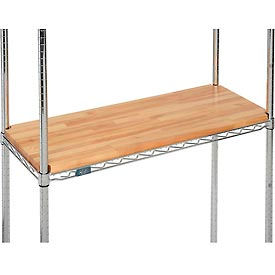 "HDO-1424V-N Hardwood Deck Overlay for Wire Shelving 24""W x 14""D x 1""Thick"