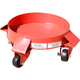 5 gallon solid deck drum dolly polyolefin casters - sdd5p