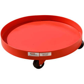 55 gallon solid deck drum dolly hard rubber casters - sdd55r
