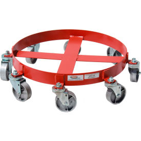 55 gallon 8-wheel drum dolly steel casters - 836s