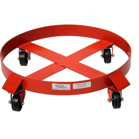 536-RG Modern Equipment MECO 536-RG 55 Gallon Outrigger Drum Dolly Polyolefin Casters