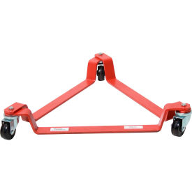 55 gallon triangular drum dolly polyolefin casters - t3p