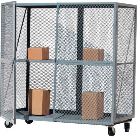 Optional Middle Shelf for Global Approved Open Mesh Steel Security Truck 72x30 Gray