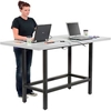 "695431 Standing Height Table with Power - 72""L x 36""W?x 42""H - Laminate - Gray"