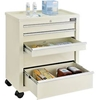 "670147 Global; 5-Drawer Medical Bedside Cart, Key Lock, Beige, 24-1/2""L x 13-1/4""W x 29""H"