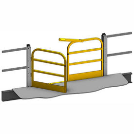 "mezzanine swing gate 3 rail 6lx42""h Mezzanine Swing Gate 3 Rail 6Lx42""H"