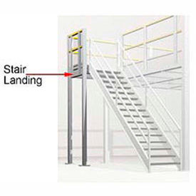 4 x 4 stair landing for mezzanine - boca 3 rail 4 X 4 Stair Landing For Mezzanine - Boca 3 Rail