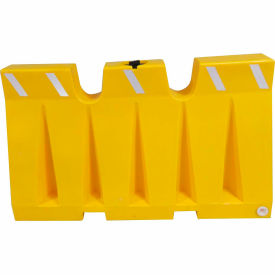 6L Traffic Barrier, Polyethylene, Yellow