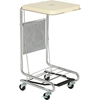LQX100001 Global; Chrome Hamper Stand with Foot Pedal and Poly Coated Steel Lid