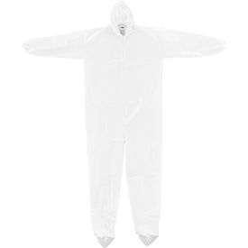 KC-MIC-60G-CVL-2XL-HB Disposable Microporous Coverall, Elastic Wrists/Ankles, Hood & Boots, White, 2X-Large, 25/Case
