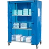 "436931 Nexel; Galvanized Steel Linen Cart with Nylon Cover, 4 Shelves, 48""L x 18""W x 69""H"