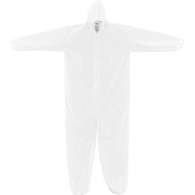 KC-MIC-60G-CVL-3XL-H Disposable Microporous Coverall, Elastic Wrists/Ankles & Hood, White, 3X-Large, 25/Case