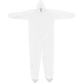 KC-MIC-60G-CVL-3XL-HB Disposable Microporous Coverall, Elastic Wrists/Ankles, Hood & Boots, White, 3X-Large, 25/Case