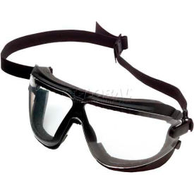 7100075727 3M; Gogglegear; Safety Goggle With Strap & Headband, Clear Lens, Black Frame