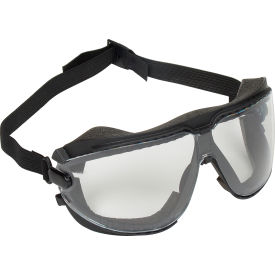 MS000001208 3M; Gogglegear; Safety Goggle With Strap, Clear Lens, Black Frame