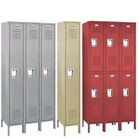 68133R-028-KD Penco 68133R-028-KD Vanguard Locker Recessed Double Tier 12x15x36 6 Door Ready To Assembled Gray