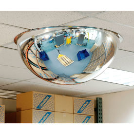 "Full Dome Acrylic Mirror, Indoor, 18"" Dia., 360° Viewing Angle"