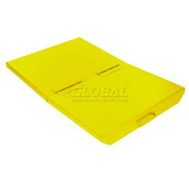 2533YL Lid for 1/4 Cu Yd Wright Yellow Self-Dumping Hopper
