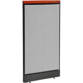 "694744RGY Deluxe Office Partition Panel with Raceway, 24-1/4""W x 47-1/2""H, Gray"