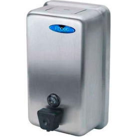 708A Frost Wall Mount Manual Vertical Liquid Soap Dispenser - Stainless - 708A