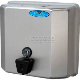 711 Frost Wall Mount Manual Profile Liquid Soap Dispenser - Stainless - 711