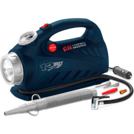 "Campbell Hausfeld AF010800, 2-in-1 Inflator with Safety Light, 12VDC, 150 PSI, 20"" Hose"