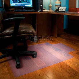 "132133 ES Robbins; Office Chair Mat for Hard Floor -  45""W x 53""L - Straight Edge"