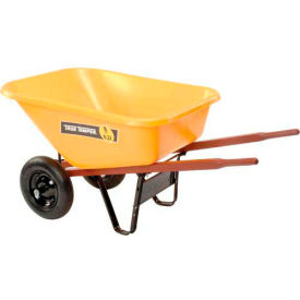 RP810 Ames RP810 8 Cubic Foot Poly Wheelbarrow With Dual Wheels