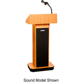 W505-OK Executive non-sound Column Podium / Lectern - Light Oak