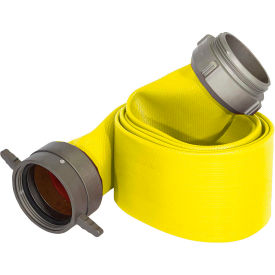 "armored textiles n50h5ry100s jafrib standard nitrile fire hose, 5"" x 100 ft, 225 psi, yellow Armored Textiles N50H5RY100S JAFRIB Standard Nitrile Fire Hose, 5"" X 100 Ft, 225 PSI, Yellow"