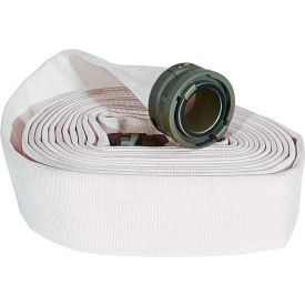"armored textiles n51h25lnw50n jafline double jacket fire hose, 2-1/2"" x 50 ft, 400 psi, white Armored Textiles N51H25LNW50N JAFLINE Double Jacket Fire Hose, 2-1/2"" X 50 Ft, 400 PSI, White"