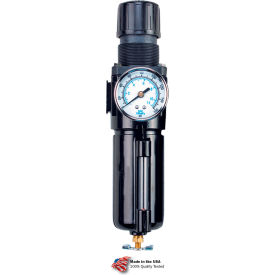 "B754GW Arrow Integral Filter/Regulator With Gauge B754GW, Zinc Bowl, 1/2"" NPT, 250 PSI"