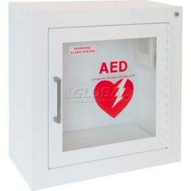 1413F12 AED Cabinet Surface Mount, 85 db Audible Alarm, Steel