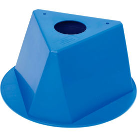 055BLUE Inventory Cone Blue 3-Sided