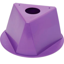 055PURPLE Inventory Cone Purple 3-Sided