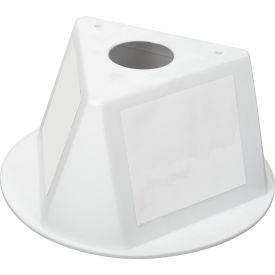 056CWHITE Inventory Cone White 3-Sided with Dry Erase Decal
