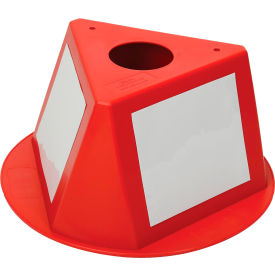 056CRED Inventory Cone Red 3-Sided with Dry Erase Decal