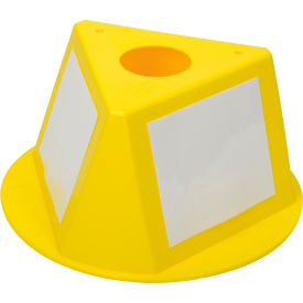 056CYELLOW Inventory Cone Yellow 3-Sided with Dry Erase Decal