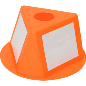 056CORANGE Inventory Cone Orange 3-Sided with Dry Erase Decal