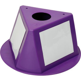 056CPURPLE Inventory Cone Purple 3-Sided with Dry Erase Decal